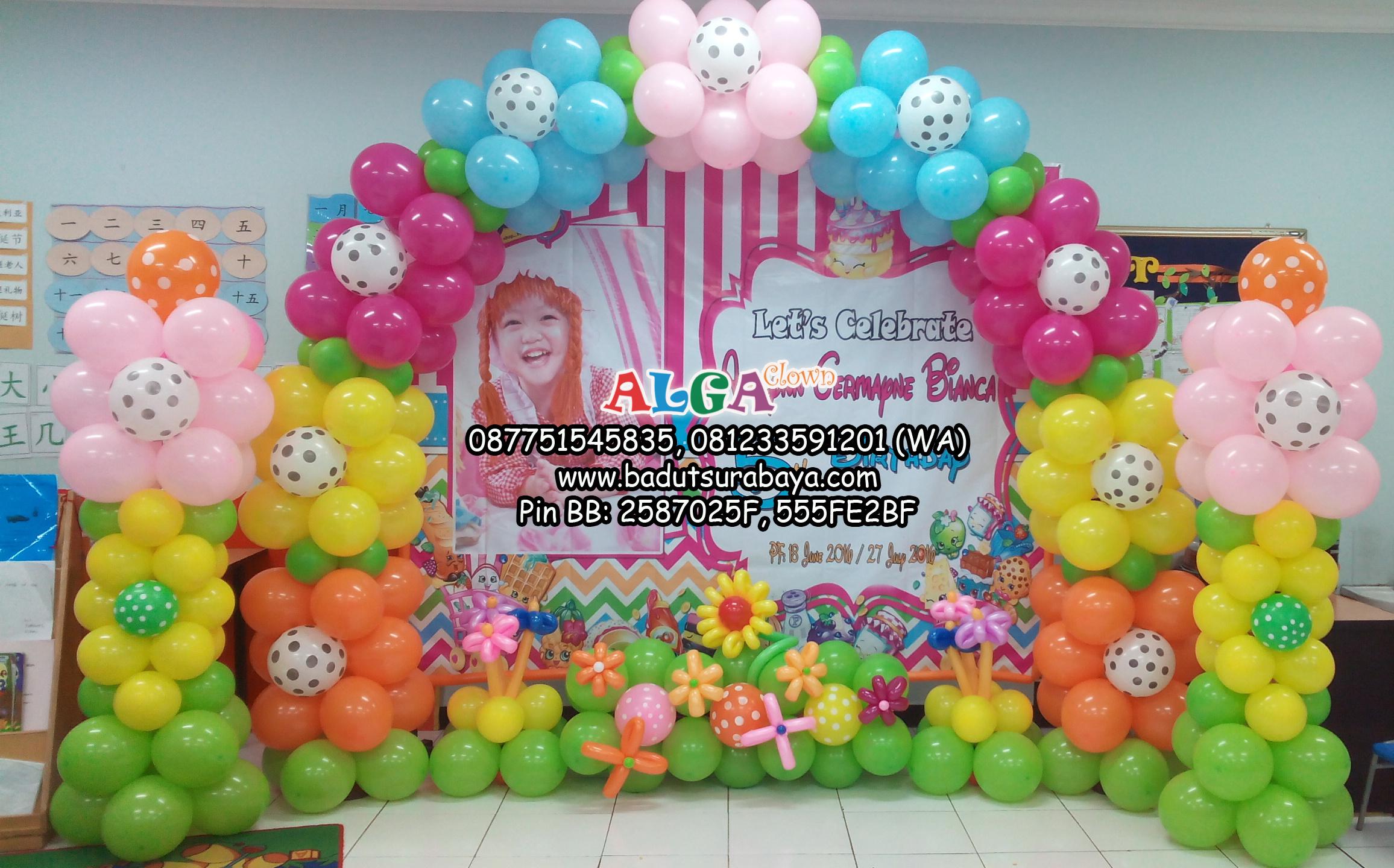 Dekor Balon Badut Surabaya Alga Clown
