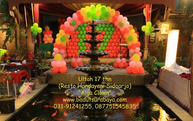 Dekor balon badut surabaya alga clown for Dekor ulang tahun